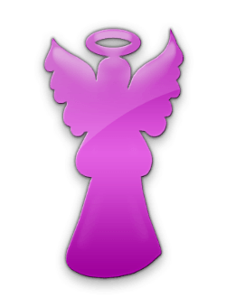 purple angel figure