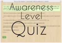 awareness level quiz