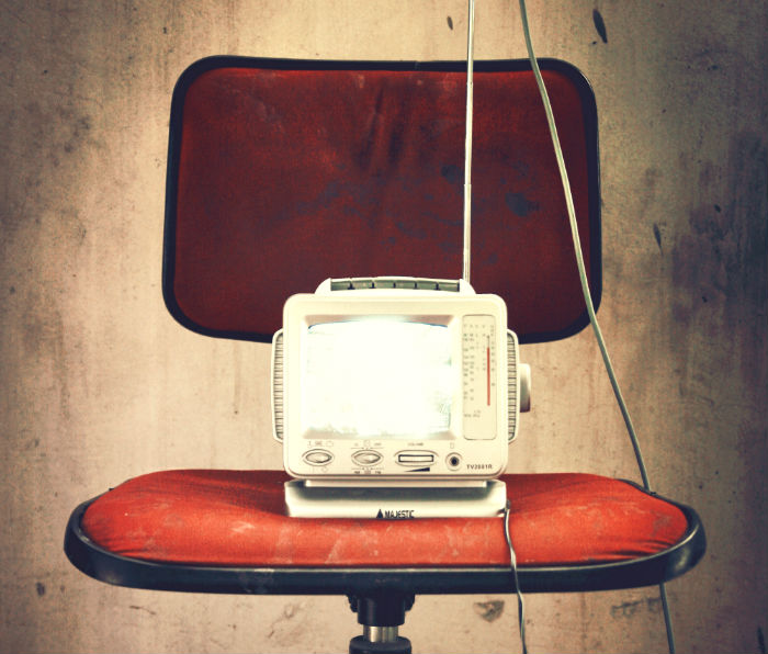 radio device on chair