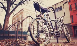 parked bike in urban environment