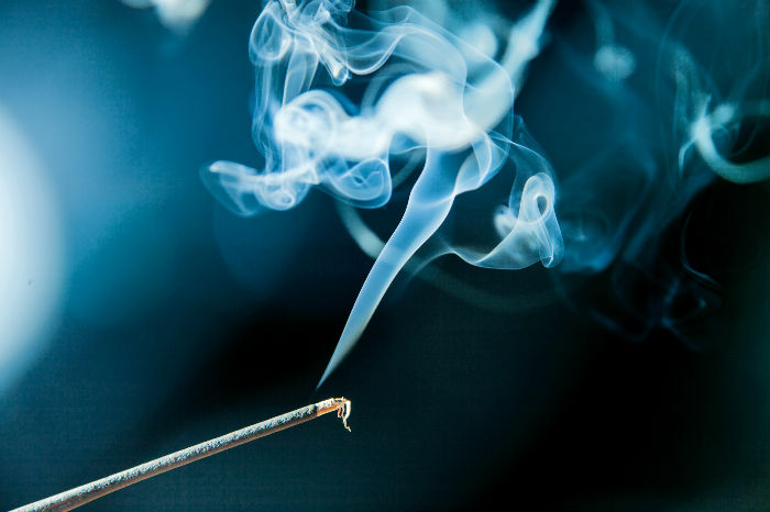 stick of incense burning