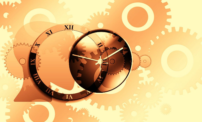 artistic rendition of time and clocks