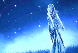 fairy in the moonlight