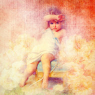painting of a child-like angel