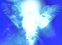 depiction of archangel figure bathed in light used as featured image