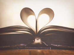 pages of book shaped into a heart